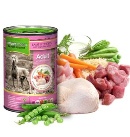 natures menu Adult Dog Can, Chicken & Lamb 400g
