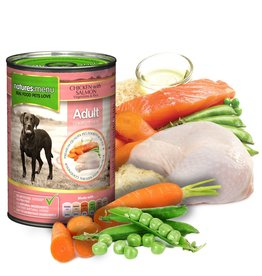 natures menu Adult Dog Wet Food Can, Chicken & Salmon, 400g