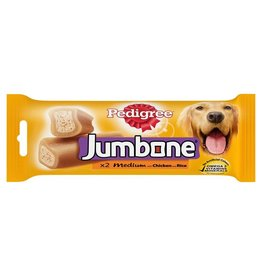 Pedigree Jumbone Medium Dog Treat with Chicken & Lamb, 2 Chews, 180g