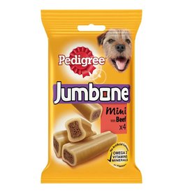 Pedigree Jumbone Small Dog Treats with Beef & Poultry, 4 Mini Chews, 160g