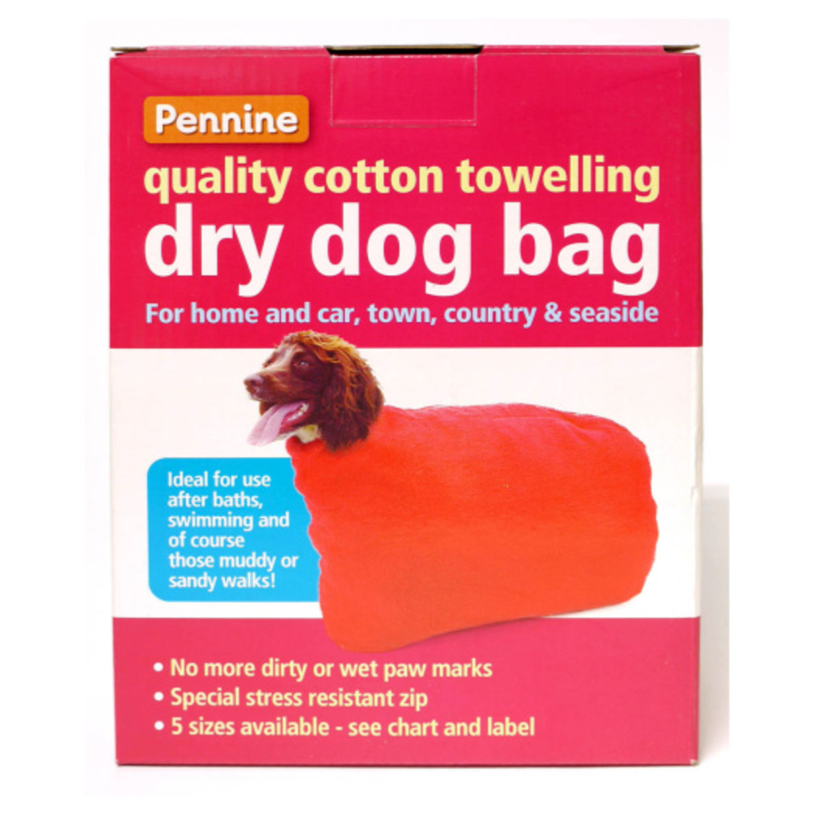 Pennine Dry & Clean Dog Cotton Towelling Bag