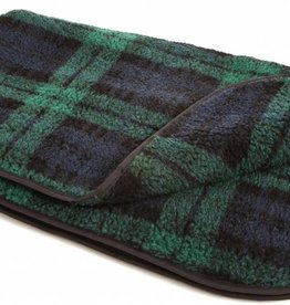Pets & Leisure Double Thickness Sherpa Fleece Blanket, Black Watch