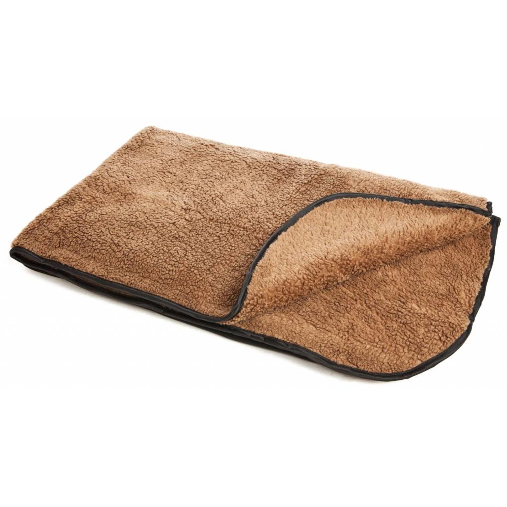 Pets & Leisure Double Thickness Sherpa Fleece Pet Blanket, Brown