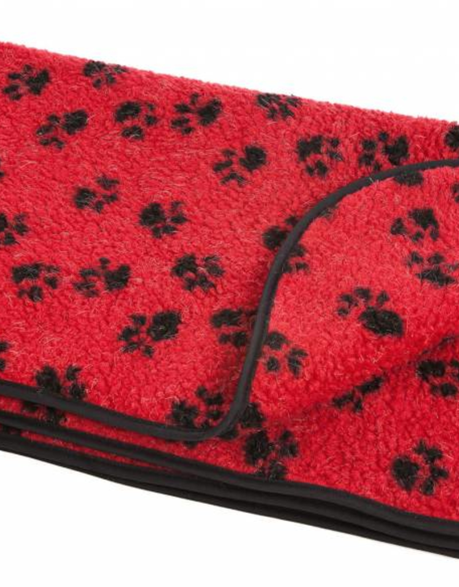 Pets & Leisure Double Thickness Sherpa Fleece Pet Blanket, Red & Black