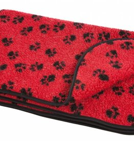 Pets & Leisure Double Thickness Sherpa Fleece Blanket, Red/Black