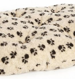 Pets & Leisure Oval Fleece Cushion Pads, Paw Print Beige
