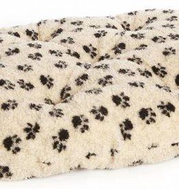 Pets & Leisure Oval Fleece Pet Cushion Pad, Paw Print Beige