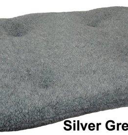 Pets & Leisure Oval Fleece Pet Cushion Pad, Silver Grey
