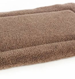Pets & Leisure Superior Pet Bed Rectangular Fleece Cushion Pad, Brown