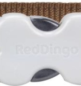 Red Dingo Blue Spots on Brown  Dog Collar