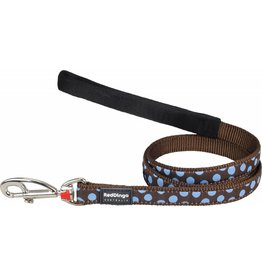 Red Dingo Blue Spots on Brown Dog Lead