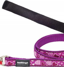 Red Dingo Breezy Love Purple Dog Lead