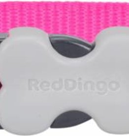 Red Dingo Classic Hot Pink Dog Collar