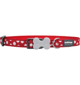 Red Dingo White Spots on Red Dog Collar *CLEARANCE
