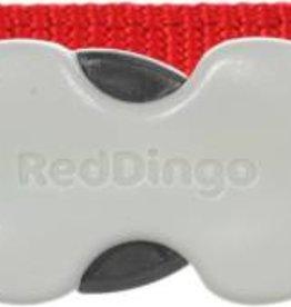 Red Dingo Red Paw Prints Dog Collar