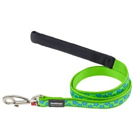 Red Dingo Turquoise Stars on Lime Green Dog Lead  *CLEARANCE