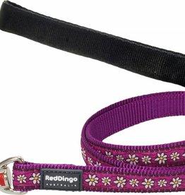 Red Dingo Purple Daisy Chain Dog Lead