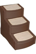 Rosewood 3 Step Easy Step Pet Stairs, Chocolate^