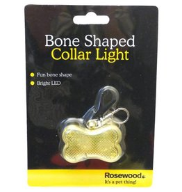 Rosewood Bone Shaped Dog Collar Light