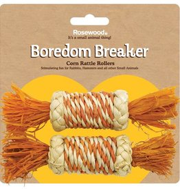 Rosewood Boredom Breaker Corn Rattle Rollers Small Animal Toy, 2 pack