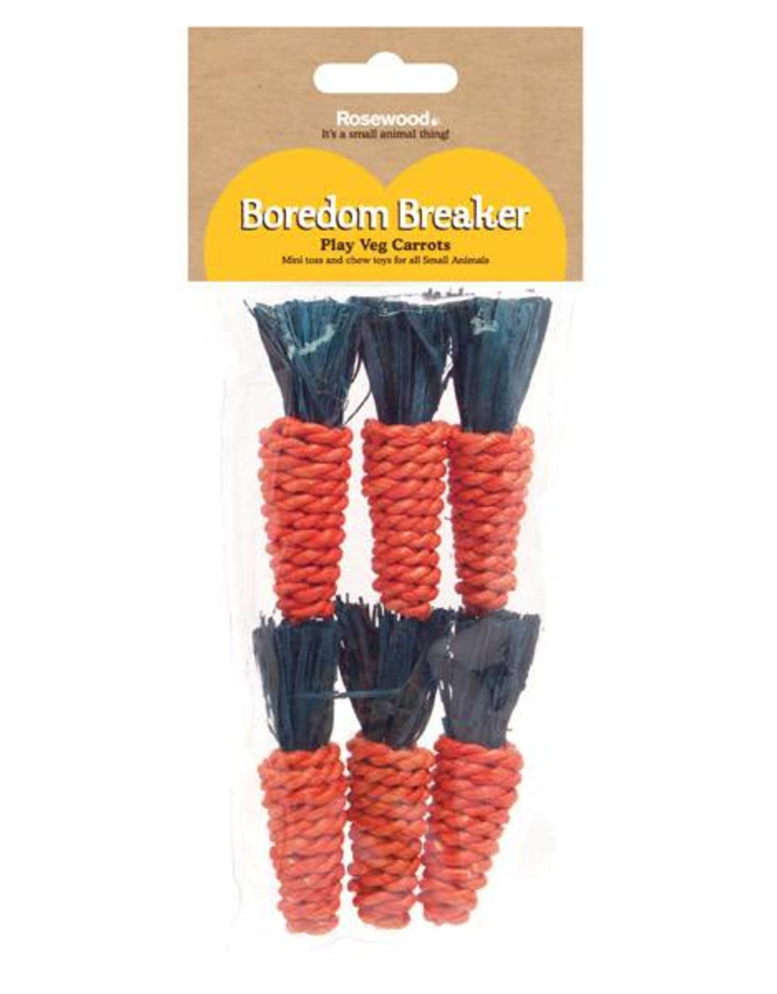 Rosewood Boredom Breaker Corn Wood & Sisal Toys 6 pack Mini Sisal Carrots