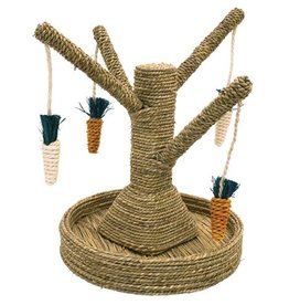 Rosewood Boredom Breaker Corn Wood & Sisal Toys Bunny Fun Tree  Small Animal Chew Toy