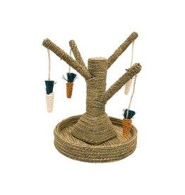 Rosewood Boredom Breaker Corn Wood & Sisal Toys Bunny Fun Tree  Small Animal Chew Toy