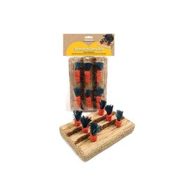 Rosewood Boredom Breaker Corn Wood & Sisal Carrot Play Patch Small Animal Chew Toy