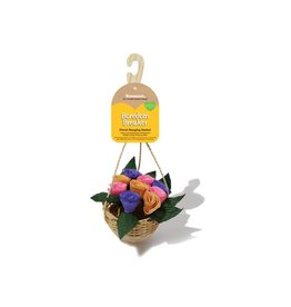 Rosewood Boredom Breaker Floral Hanging Basket Small Animal Treat Toy