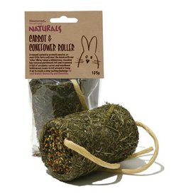 Rosewood Boredom Breaker Naturals Carrot & Coneflower Roller Small Animal Treat