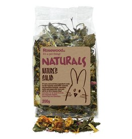 Rosewood Boredom Breaker Naturals Natures Salad Small Animal Treat, 200g