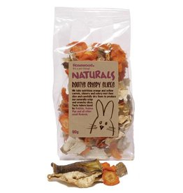 Rosewood Boredom Breaker Naturals Small Animal Treat Rootys Crispy Slices 90g