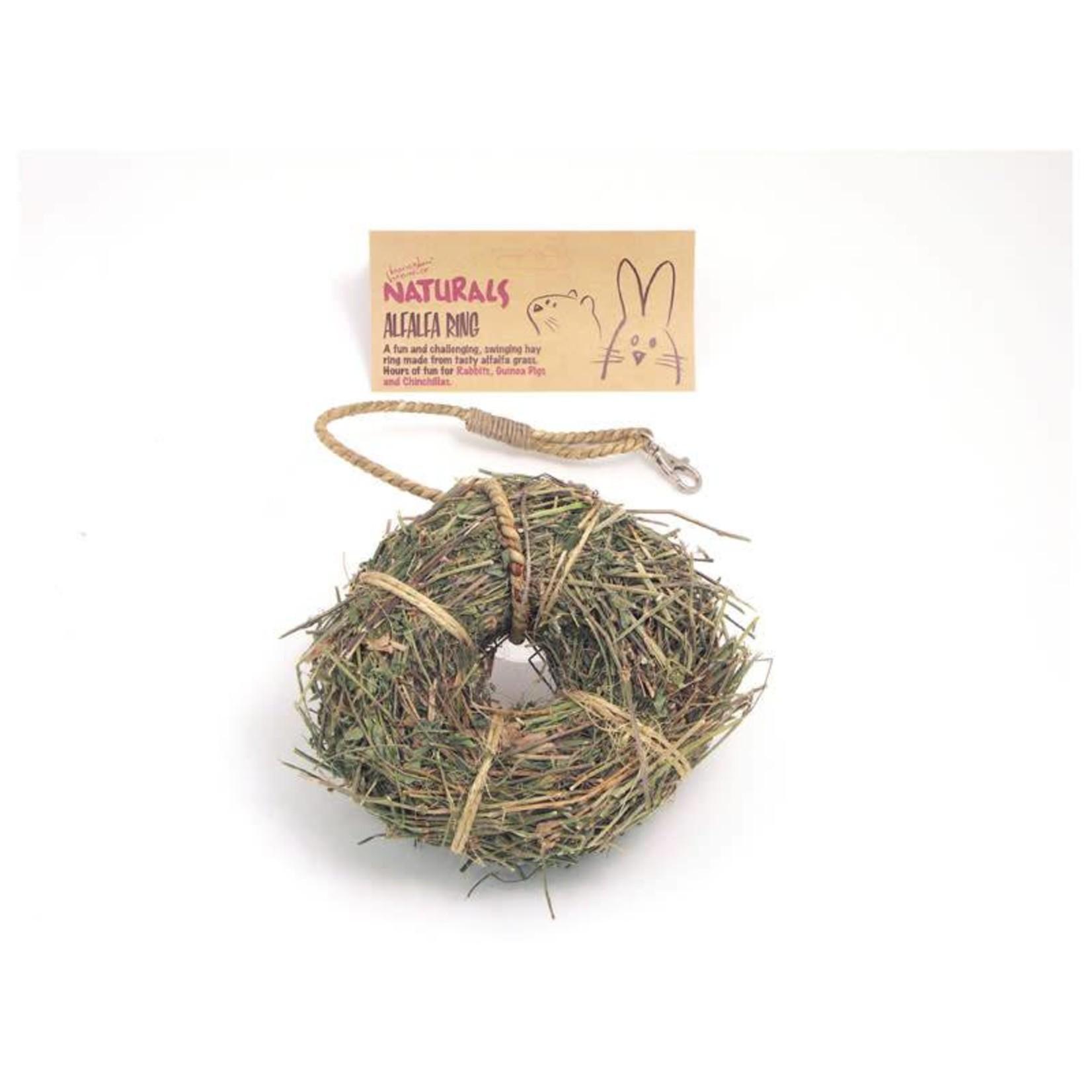 Rosewood Boredom Breaker Naturals Alfalfa Ring Small Animal Treat