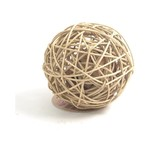 Rosewood Boredom Breaker Rattan Wobble Ball Small Animal Toy, Large