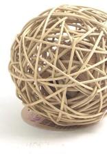 Rosewood Boredom Breaker Rattan Wobble Ball Small Animal Toy, Large