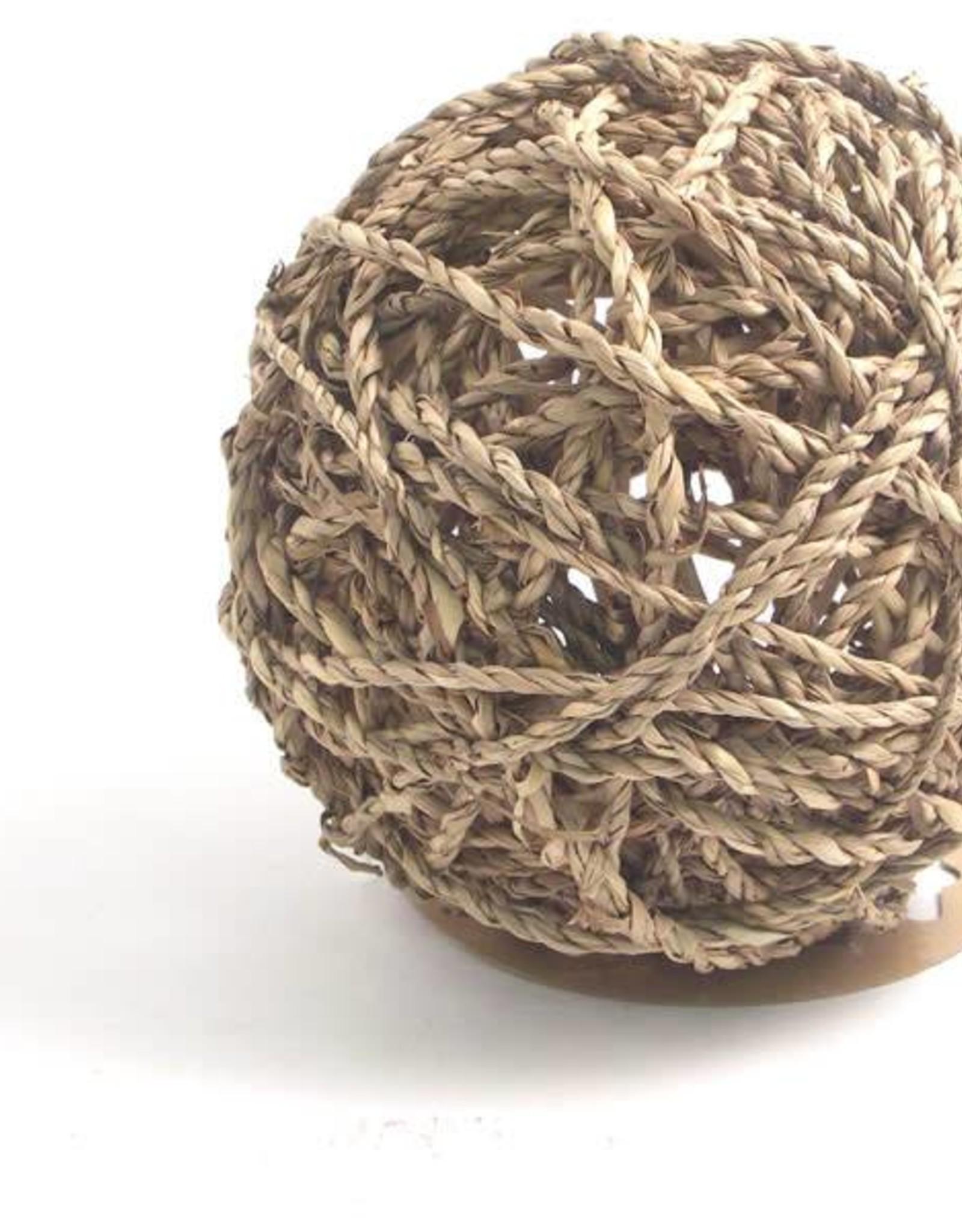 Rosewood Boredom Breaker Sea Grass Fun Ball Small Animal Toy, Large