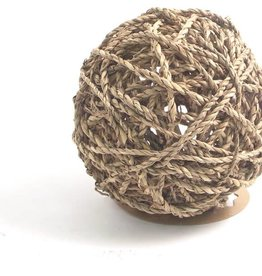 Rosewood Boredom Breaker Sea Grass Fun Ball Small Animal Toy, Large