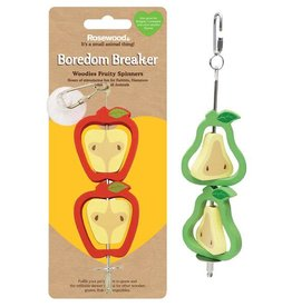 Rosewood Boredom Breaker Woodies Fruity Spinners Small Animal Toy