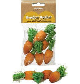 Rosewood Boredom Breaker Woodies Play Carrots Small Animal Chew Toy, 6 pack