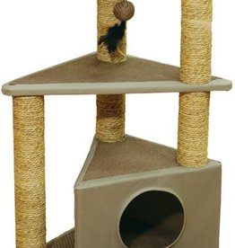 Rosewood Three-layer Cat Scratching Post with Hideaway, Seattle