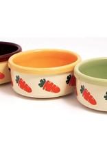Rosewood Ceramic Small Animal Bowl 13cm 5inch Carrot Design