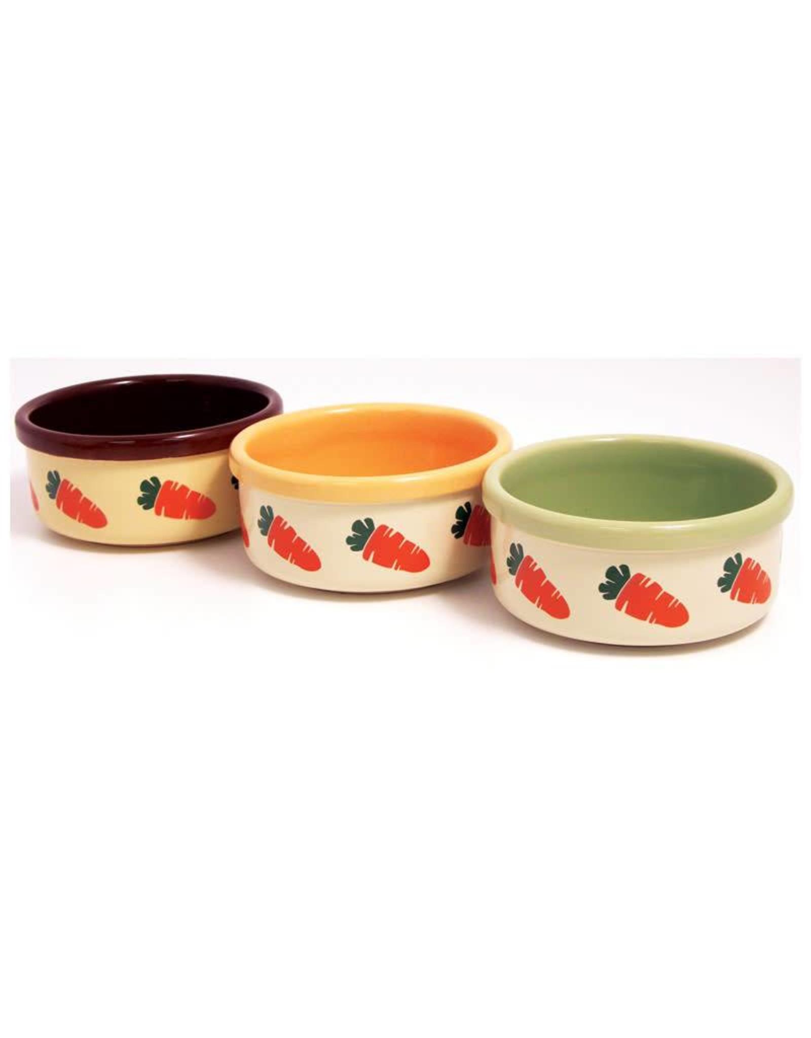 Rosewood Ceramic Carrot Design Small Animal Bowl, 13cm 5inch