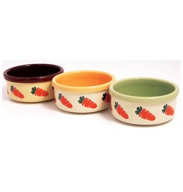 Rosewood Ceramic Carrot Design Small Animal Bowl, 13cm 5inch