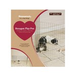 Rosewood Hexagon Puppy Play Pen, 6 panels of 25 x 25cm