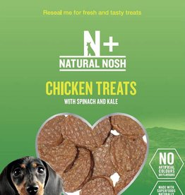 Rosewood Natural Nosh + Chicken, Spinach & Kale Dog Treats 80g