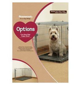 Rosewood Options Two Door Cage Crate Dog/Puppy, Cat Homes Crate^
