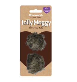 Rosewood Silvervine Cat Toy Balls 2 pack