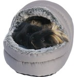 Rosewood Snuggles Small Animal Two Way Hooded Bed