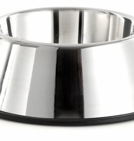 sharples Non-Tip Anti-skid Stainless Steel Spaniel Bowl, 900ml, 25cm