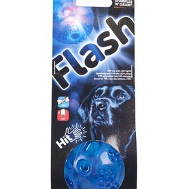 Sharples & Grant Flash Ball LED Squeaky TPR Rubber Dog Toy , 6.5cm
